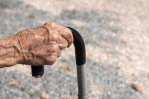 uchwyt laski inwalidzkiej wkształcie litery U
